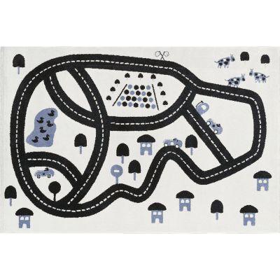 Tapis rectangulaire Circuit gris (100 x 150 cm)  par Art for Kids