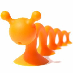 Grande figurine ventouse orange
