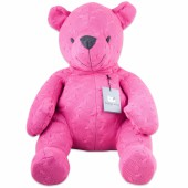 Peluche ourson Cable Uni fuchsia (55 cm) - Baby's Only