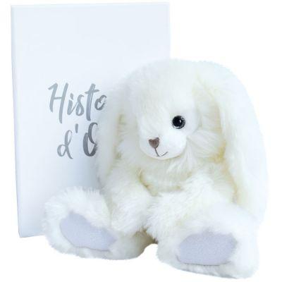 Peluche lapin pimpant Happy Family blanc (24 cm)  par Histoire d'Ours