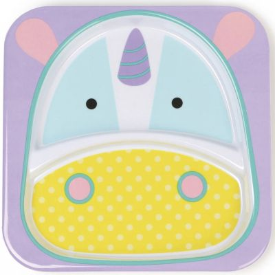 Assiette compartiment Zoo licorne  par Skip Hop