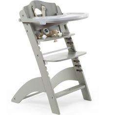 Chaise haute évolutive en bois Lambda 3 stone grey grise