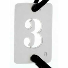 Bracelet cordon papa Lucky number rectangle 30 mm (argent 925°)