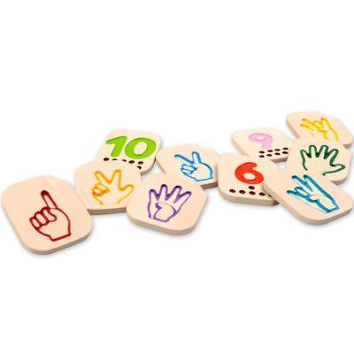 Apprendre les chiffres en signe Plan Toys