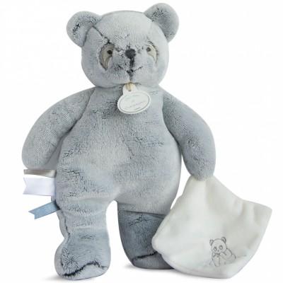 Peluche avec doudou panda gris (25 cm) Doudou et Compagnie