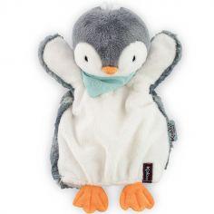Doudou marionnette Les amis Pepit le pingouin (30 cm)