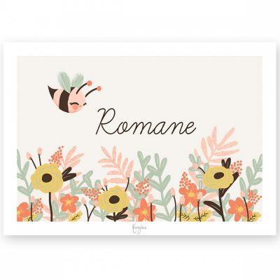 Affiche A4 Les Animignons l'abeille (personnalisable)  par Kanzilue