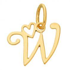 Pendentif initiale W (or jaune 750°)