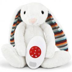 Peluche bruit blanc ou musicale Bibi le lapin