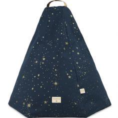 Pouf Marrakech Gold stella Night blue (54 x 62 cm)