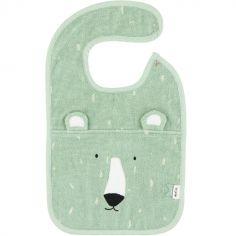 Bavoir à pression ours Mr. Polar Bear
