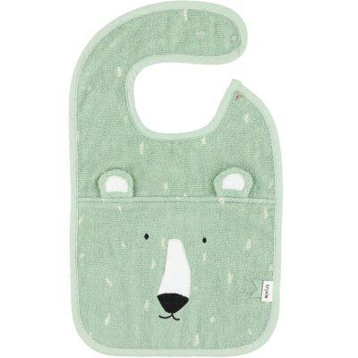 Bavoir à pression ours Mr. Polar Bear  par Trixie