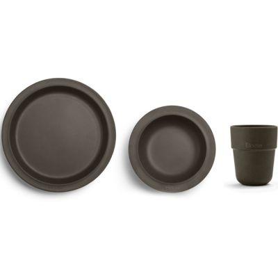 Coffret repas Chocolate en bambou (3 pièces)  par Elodie Details