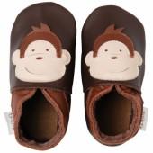 Chaussons bébé cuir Soft soles singe (3-9 mois) - Bobux