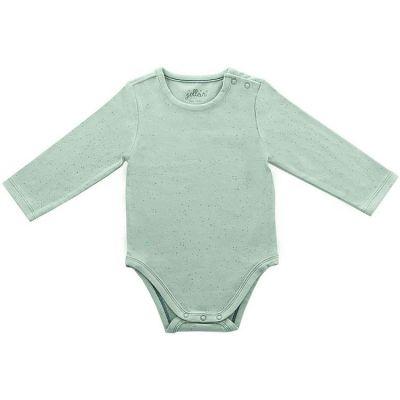 Body manches longues Mini Dots vert (6-12 mois : 74 à 80 cm)  par Jollein