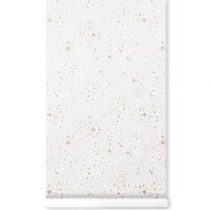 Papier peint blanc Gold stella