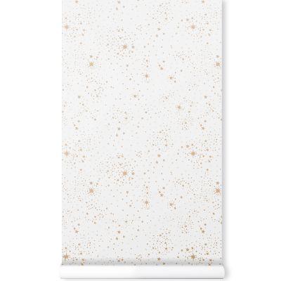Papier peint blanc Gold stella  par Nobodinoz