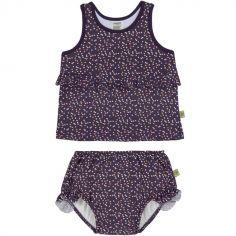 Maillot de bain 2 pièces Tankini Pois violet (18 mois)