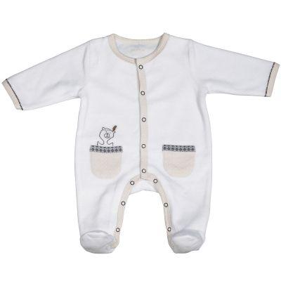 Pyjama chaud Timouki blanc (3 mois)  par Sauthon