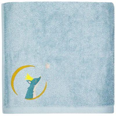 Serviette de bain bleue Renard personnalisable (50 x 100 cm)  par L'oiseau bateau