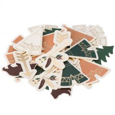 Lot de 100 confettis Indian Forest