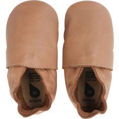 Chaussons bébé en cuir Soft soles Classic caramel (3-9 mois)