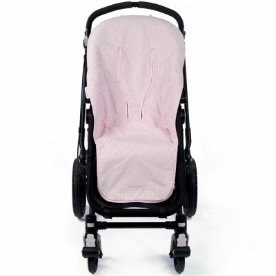 Assise d'été universelle pour poussette Petite Etoile vichy rose  par Pasito a pasito