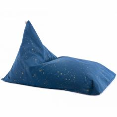 Pouf géant Essaouira Gold stella Night blue (115 x 77)