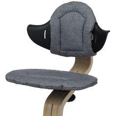 Coussin réversible pour chaise haute évolutive NOMI gris foncé et sable