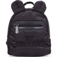 Sac à dos bébé My first bag matelassé noir (24 cm)