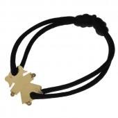 Bracelet cordon petite fille ou petit garçon mains et pieds diamants 20 mm (or jaune 750°) - Loupidou