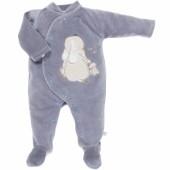 Pyjama chaud Wapi gris (6 mois : 67 cm) - Noukie's