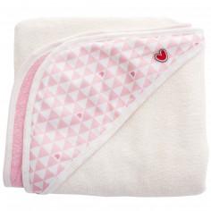Serviette tablier de bain Papillon coeur rose