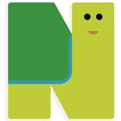 Lettre décorative tortue N (coloris aléatoire) Djeco