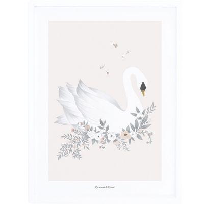 Affiche encadrée Le cygne (30 x 40 cm)  par Lilipinso