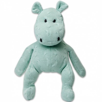 Peluche hippopotame Cable Uni vert menthe (35 cm) Baby's Only