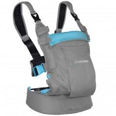 Porte bébé ventral et dorsal Dynamic gris clair et turquoise