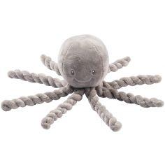 Peluche pieuvre Lapidou gris (23 cm)