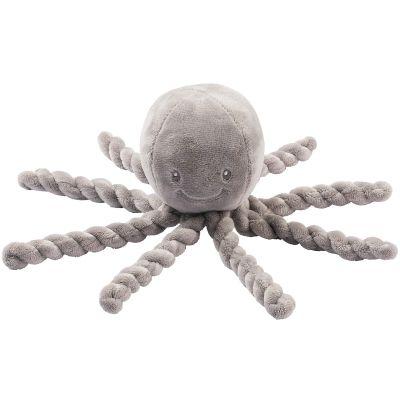 Peluche pieuvre Lapidou gris (23 cm)  par Nattou