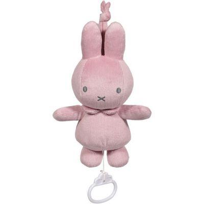 Doudou musical à suspendre lapin Miffy rose velours  par Pioupiou et Merveilles