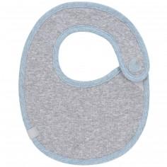 Bavoir en éponge coton Lela bleu clair