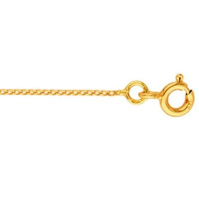Chaîne maille gourmette claire diamantée 42 cm (or jaune 750°)  par Berceau magique bijoux
