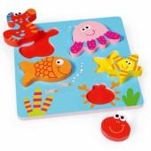 Puzzle d'encastrement mer (5 pièces) - Scratch