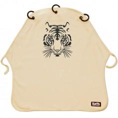Protection pour poussette Baby Peace coton bio Tigre sable