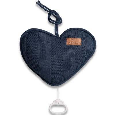 Coussin musical coeur Robust Mix bleu kobalt (26 cm) Baby's Only