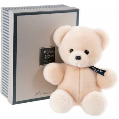Coffret peluche Baby Ours beige (25 cm) Histoire d'Ours
