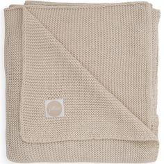 Couverture bébé en coton Basic knit nougat (75 x 100 cm)