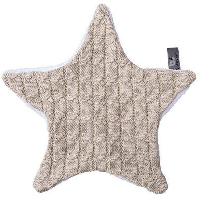 Doudou plat étoile Cable Uni beige (30 x 30 cm)  par Baby's Only