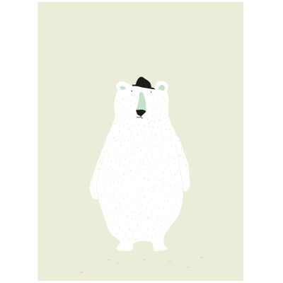 Affiche ours Mr. Polar Bear (30 x 40 cm)  par Trixie