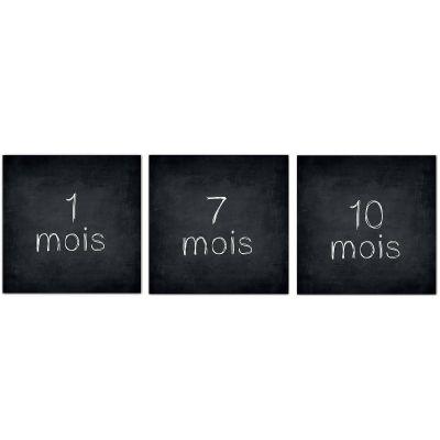Cartes photos souvenirs Minimois Chalkboard (12 cartes)  par Les Boudeurs